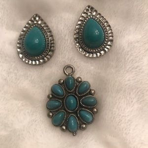 Jewelry - Pendant and set of pierced earrings